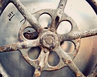 Rusty Wheel - Photography print