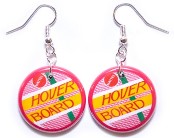 Back to the Future II Inspired Hoverboard Button Earrings