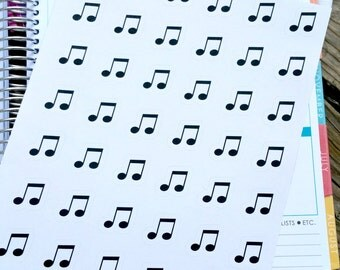 Music Note Planner Sticker