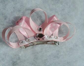 Crown Ribbon Sculpture Hair Bow