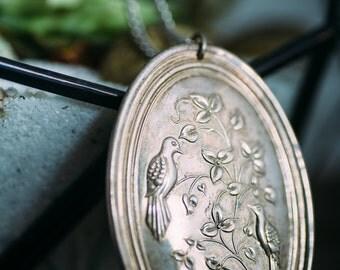 Vintage Towle Cross & Bird Necklace