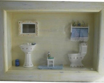 Bathroom shadowbox