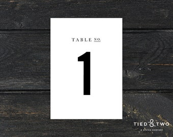 Wedding Table Numbers | Custom Table Number, 5x7 Table Number, Wedding Reception Table Number, Simple Table Number