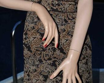 Nice Vintage Jonathan Martin silk sundress with tigers eye accented beads sz 14