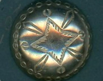 Medium Traditional Navajo Silver Button