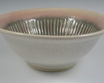 Fluted Porcelain Serving Bowl
