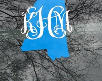 State initials Decals
