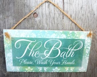 Salle de bain etsy for Salle de bain door sign