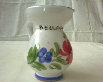 ceramic jug - painted and created by hand - remember bellaria - height 22 cm - early 70s - perfectly preserved
