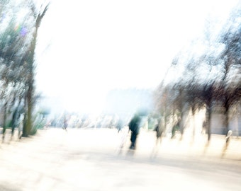 Jardin Des Tuileries Stroll - Abstract Photography  - Motion -Large format