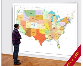 Big Ass Maps For Your World By BigWorldMaps On Etsy - Huge us map