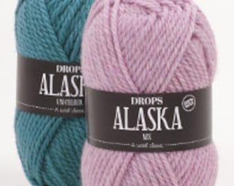 DROPS Alaska 100% Wool Knitting Yarn. A wool classic!