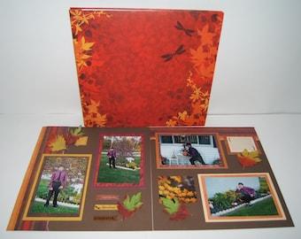 Fall Scrapbook Album - Autumn Scrapbook Album - 12 by 12 Fall Scrapbook Album - Premade Fall Photo Album - 12 by 12 Autumn Photo Album