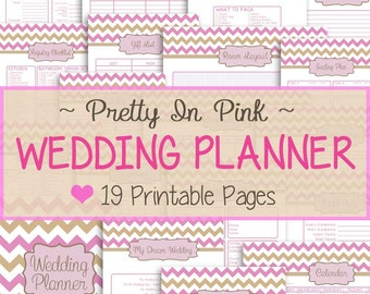 free printable wedding planner organizer