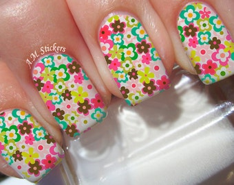 Beautiful Floral Nail Decals