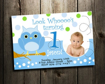 owl invitation birthday