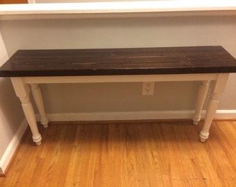 Custom built farmhouse bench