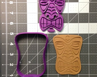 Tiki Face 101 Cookie Cutter and Stamp