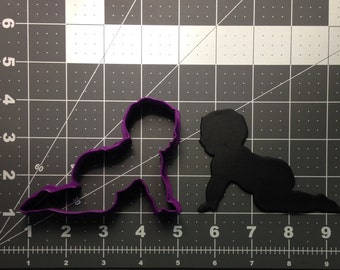 Crawling Baby 102 Cookie Cutter
