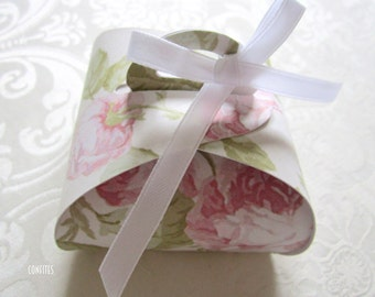 Favour Box with Handle & Ribbon Pack of 10