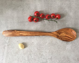 Cooking Spoon / Olive Wood Spoon / Wooden Spoon / Large Spoon / Farmhouse Spoon / Boho Spoon / Hand Carved Spoon, 14''
