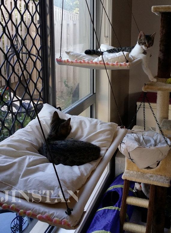Sunset Cat Hammock With Cushion