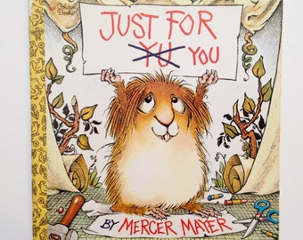Vintage Children's Book - Just For You - Little Critter - by Mercer Mayer - Golden Book Paperback