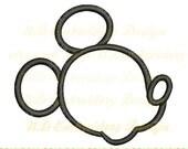 Micky Maus Applique, Mickey Leiter Stickerei Design, ms-082