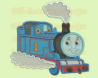 Thomas Train Filled Stitch Machine Embroidery Design, Thomas the Tank Engine,  vl-005-fill