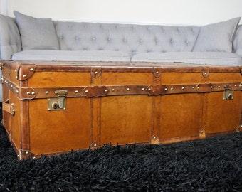 Handmade English Bespoke Coffee Table Trunk 1200x600x400