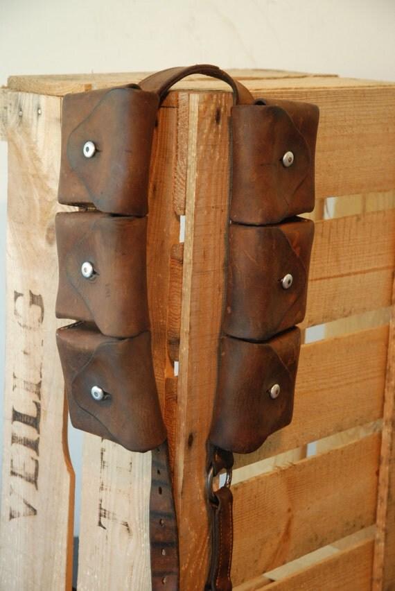 Vintage Swiss Army Ammo Bags On A Belt Ammunition Belt Of