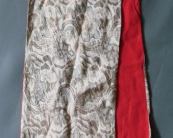 Vintage Rare Gatsby 1930s 30s Long Lamé Metallic Thread Scarf