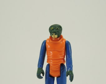 Star Wars Vintage Walrus Man Dark Green White Tusks 1978