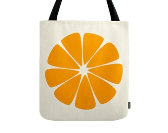 Orange tote bag Orange bag Orange canvas tote bag shopping bag shopping canvas bag gift for her orange shoulder bag canvas bag shopping tote