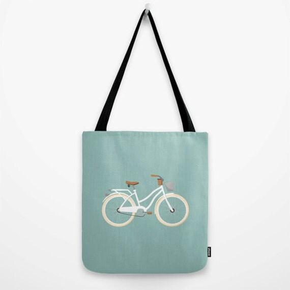 bike tote bag bike bag bike canvas tote bag summer canvas bag