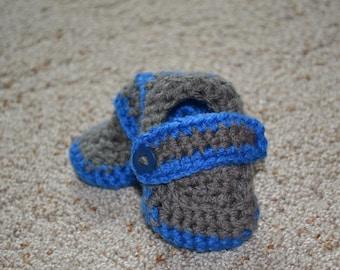 Crochet Infant Loafer Shoe, Baby Boy, Crochet Shoe, Photo Prop, Pregnancy Announcement, Gender Reveal, Christmas, Baby Gift, Under 20