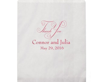 Thank You Personalized Favor Bags