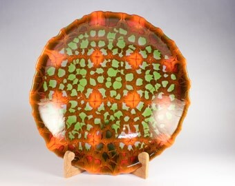 Synapse Fired, kilnformed glass bowl