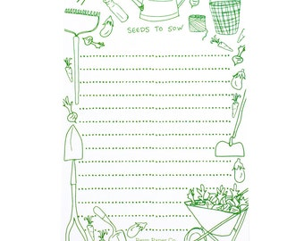 Seeds To Sow Notepad/Garden/Notepad/To-Do Lists