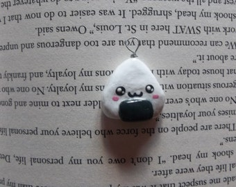 chibi polymer clay rice ball charm