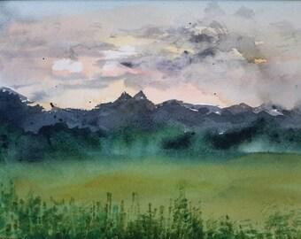 Original Watercolor- Esperando II