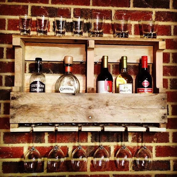 Reclaimed Wood Liquor Cabinet Wine Rack Whiskey Rack Made