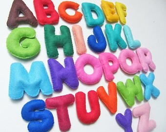 Stuffed Felt Alphabet Letter
