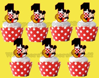Mickey Mouse Cupcake Topper, Cupcake Pick