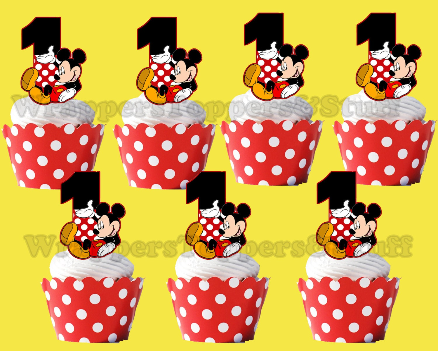 Mickey Mouse Cupcake Topper Cupcake PickMickey Mouse Cupcake Toppers