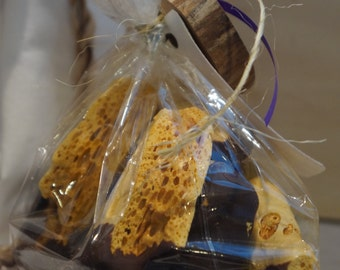 9 Oz. of Scottish Chocolate Dipped Honeycomb Candy - Gluten free!