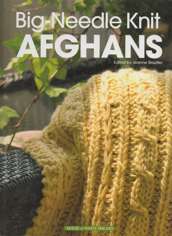 Big Needle Knit Afghans Knitting Pattern Book Cables