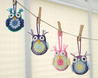 Crochet, Amigurumi Hanging Owl, home decoration