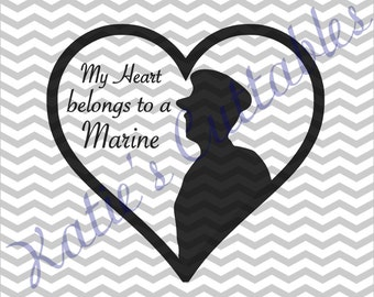 My Heart Belongs To A Marine .SVG File