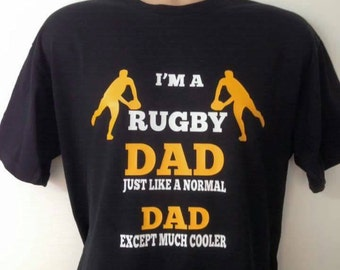 I'm a Rugby Dad Fruit of the Loom Tee Shirt